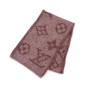 Louis Vuitton Louis Eshalp Monogram glitter scarf Bordeaux * ETC
