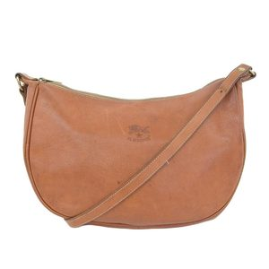Irubizonte IL BISONTE Leather Diagonal Shoulder Bag Brown