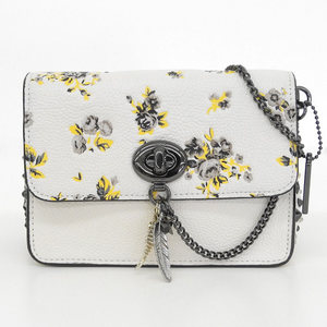 COACH NEW Bowery Crossbody with Charm Floral Shoulder Bag 59491 Jurassic Dinosaur Ivory
