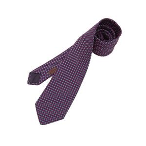 HERMES silk H pattern tie 紺 × red * ETC