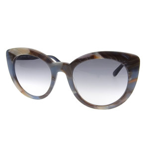 Etoro ETRO Fall 2018 Products Blue Bridge Cat's Eye Sunglasses ET643 S Marble Pattern