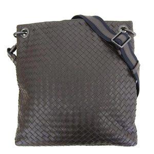 Bottega Veneta BOTTEGA VENETA Shoulder bag Intrechert Leather Dark brown Diagonal cover 161623 * BG
