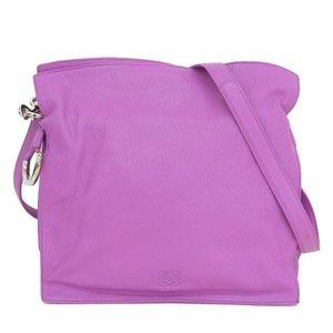 Loewe LOEWE Flamenco Shoulder Bag Leather Pink Purple * BG