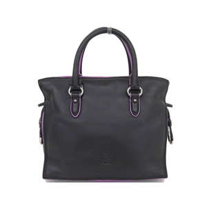 Loewe LOEWE Flamenco 23 2WAY Handbag Black x Purple Diagonal Women's 306.76.125 * BG