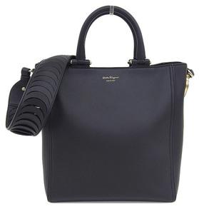Salvatore Ferragamo Ferragamo Salvatore Leather 2WAY Bag Black * BG