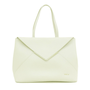 Furla FURLA Leather Tote Bag White Gray Ladies * BG