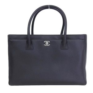 Chanel CHANEL Coco mark leather tote bag black 19 stand * BG