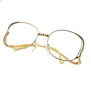 K18 Diamond / Ruby Glasses Design Frame * JL
