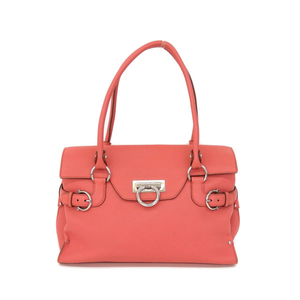 Salvatore Ferragamo Ferragamo FERRAGAMO Gancini calf leather handbag Pink DY-21 4402 * BG