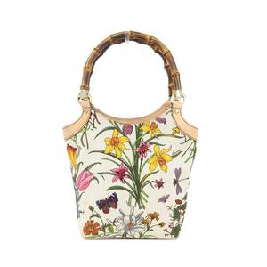 Gucci GUCCI Bamboo Flower Hand Bag Ladies 2123 * BG