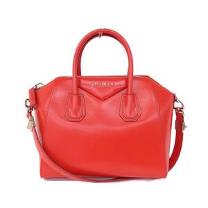 Givenchy GIVENCHY 2WAY Hand bag Red Ladies Antigona * BG
