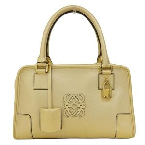 Loewe Amazona Women's Leather Handbag Gold