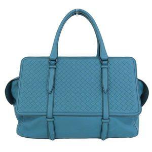 Bottega Veneta BOTTEGA VENETA Intrecherto Leather Handbag Emerald Green * BG