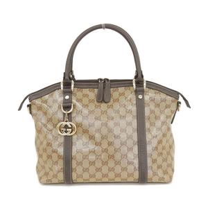 Gucci GUCCI GG Crystal Handbag Beige × Brown Outlet 341503 * BG