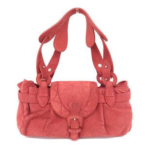 Loewe LOEWE Suede Handbag Red * BG