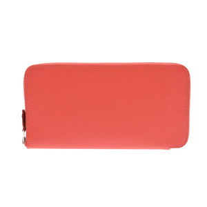 Hermes Azap Long Silk-in Rose Jaipur T Engraved Ladies Vaux Epson Wallet New Dope Beauty Product HERMES Box Used Ginzo