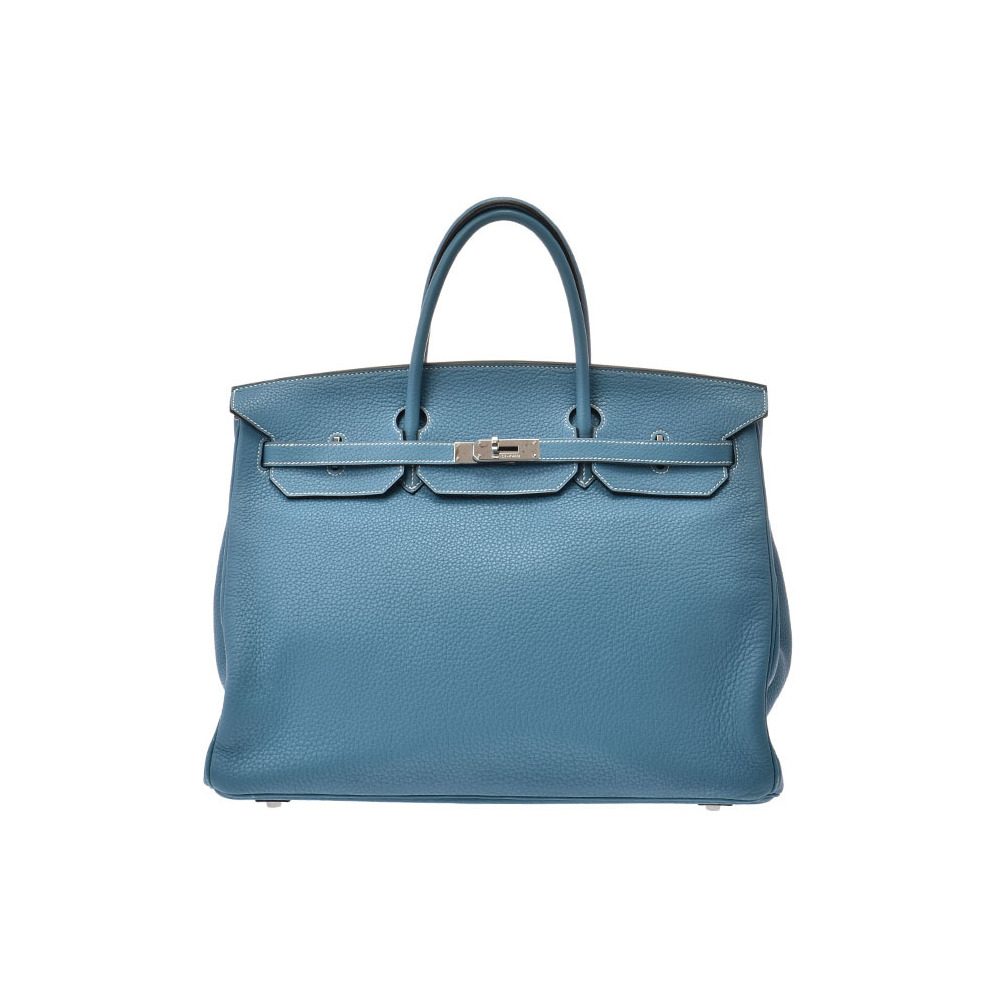 Hermes Birkin 40 Bruj Jean □ L stamped Womens Trillon Clements Handbags AB Rank HERMES Used Ginzo