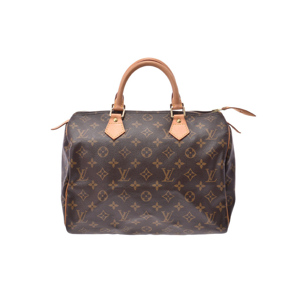 Louis Vuitton Monogram Speedy 30 Brown M41526 Ladies Genuine Leather Handbag AB Rank LOUIS VUITTON Used Ginzo