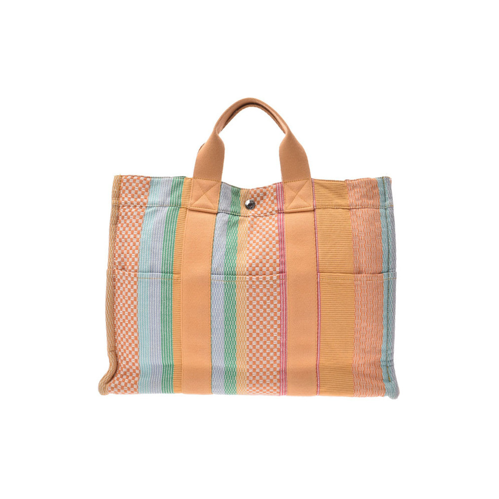 HERMES FOURTO MM Multicolor Madison Store Limited Ladies Mens Canvas Tote Bag AB Rank