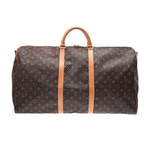 ルイ・ヴィトン(Louis Vuitton) ルイヴィトン モノグラム キーポルバンドリエール60 ブラウン M41412 メンズ レディース 本革 ボストンバッグ Bランク LOUIS VUITTON ストラップ付 中古 銀蔵