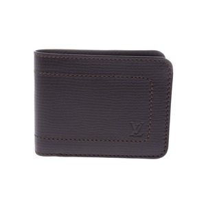 Louis Vuitton Utah Two-fold bill Cafe M92074 Men's Genuine leather New item Beauty product LOUIS VUITTON Used Ginzo