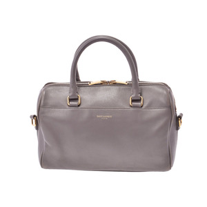 Saint Laurent Baby Duffel Gray Ladies Calf 2WAY Handbag B Rank SAINT LAURENT PARIS Used Ginzo