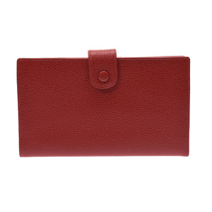 Chanel Gamaguchi Purse Red Ladies Caviar Skin AB Rank CHANEL Box Galla Used Ginzo