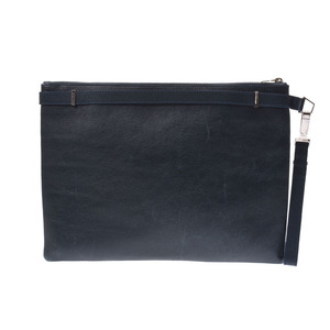 Balenciaga Clutch bag 紺 Men's Ladies Calf B rank BALENCIAGA Used Ginzo