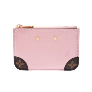 Louis Vuitton Vernis Miroir Pochette Cres Pink M63853 Ladies Key Ring with Coin Case New Same Product LOUIS VUITTON Used Ginzo