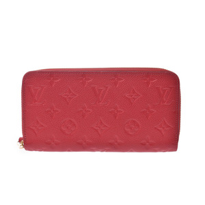 Louis Vuitton Anplant Zippy Wallet Scarlet M63691 Women's Genuine Leather Long Purse A Rank Beauty Product LOUIS VUITTON Used Ginzo