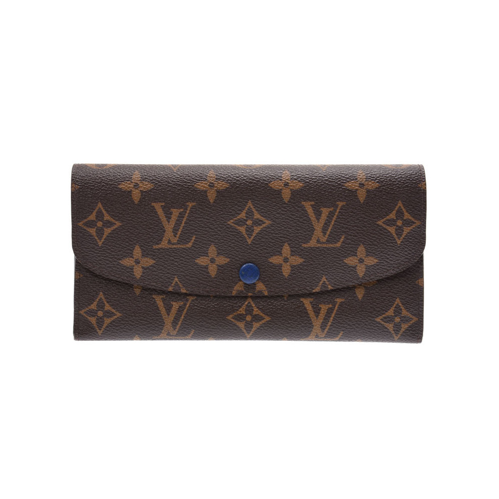 Louis Vuitton Monogram Portofeu Yuemily Old Blue M60138 Men's Ladies Genuine Leather AB Rank LOUIS VUITTON Used Ginzo