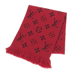 Genuine LOUIS VUITTON Louis Vuitton Escalp · Logomania Muffler Red M72432