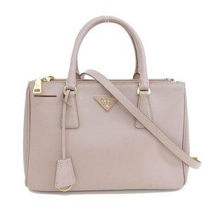 Genuine PRADA Prada Safiano leather 2WAY handbag shoulder pink Model: BN 1801 bag