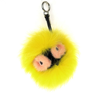 Genuine FENDI Fendi Charm BAG BUGS Yellow 7AR390 F03TR