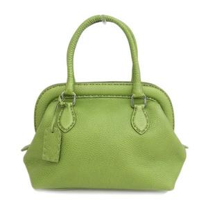 Genuine FENDI Fendi handbag green 8BN127 bag leather