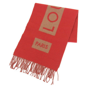 Genuine LOUIS VUITTON Louis Vuitton Escalp Baroda Muffler Red Camel