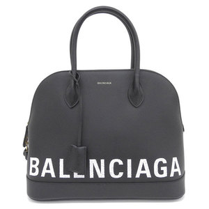 Genuine BALENCIAGA Balenciaga VILLE top handle small graffiti logo calfskin black bag leather