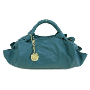 Genuine LOEWE Loewe Nappa Aire Handbag Green Bag Leather