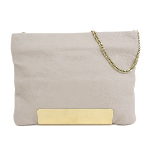 Genuine JIMMY CHOO Jimmy Cho shoulder bag ivory leather