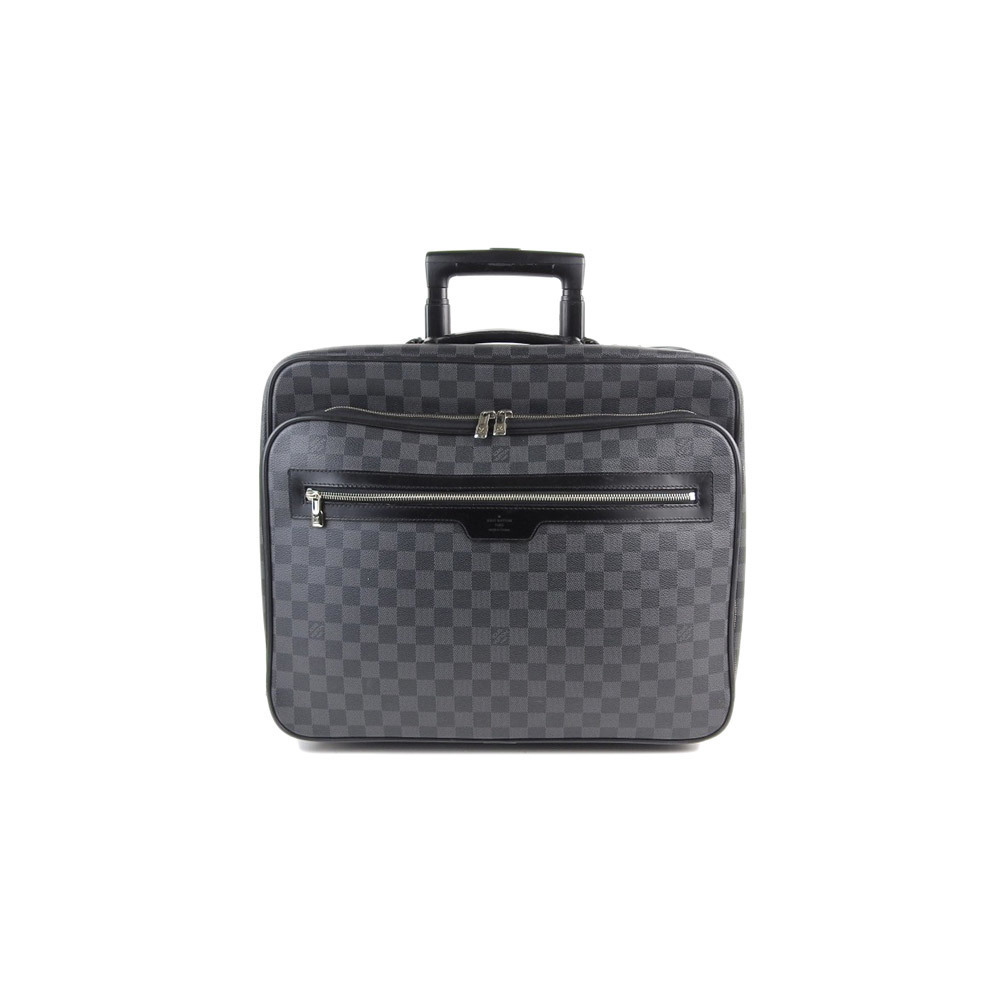 23c0b80d7d56 Genuine LOUIS VUITTON Louis Vuitton Damier Graphite Pilot Case Model   N23206 Bag Leather