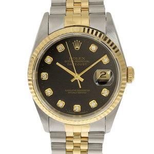 Genuine ROLEX Rolex Datejust Mens Automatic Wrist Watch Model: 16233 G W