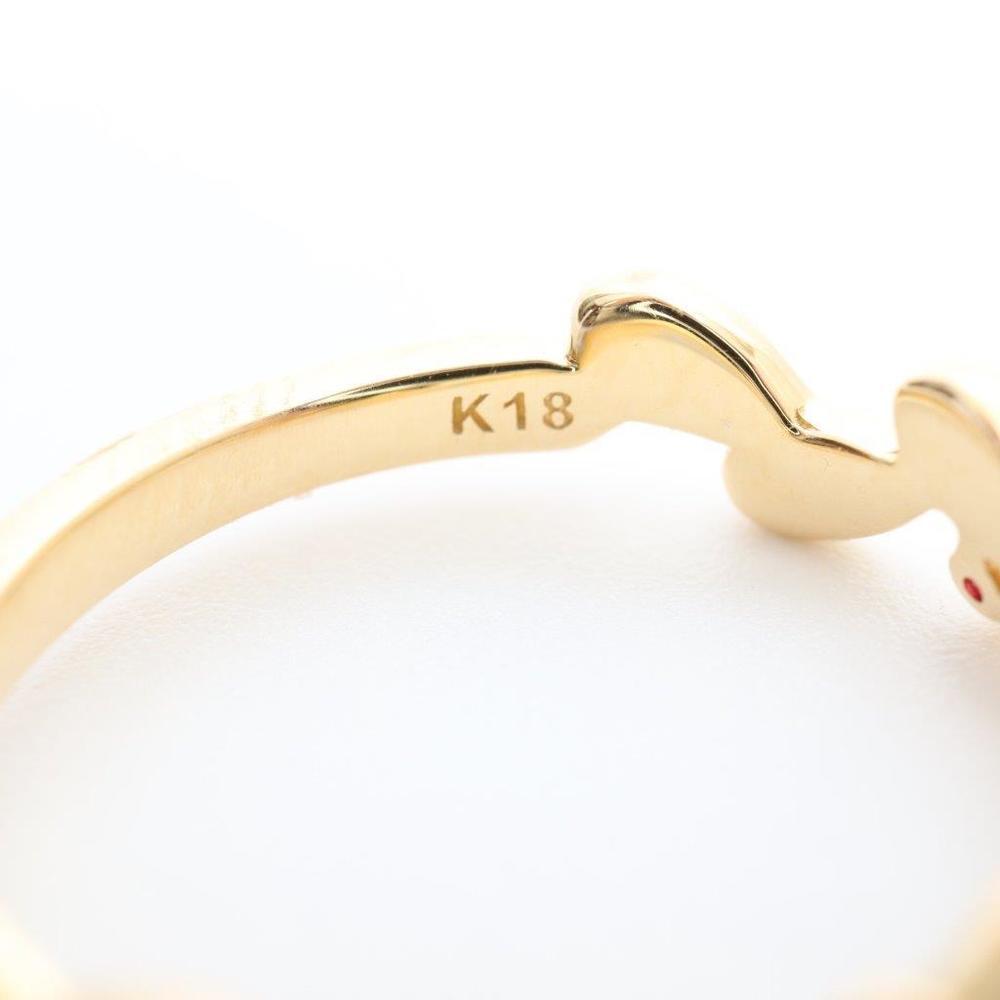 ヨンドシィ(4°C) K18イエローゴールド(K18YG) カジュアル ダイヤモンド,ルビー バンドリング イエローゴールド(YG)