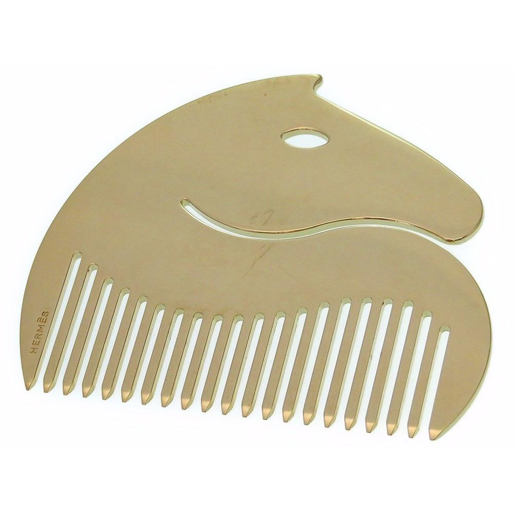 HERMES hose motif comb gold color 0106 HERMES