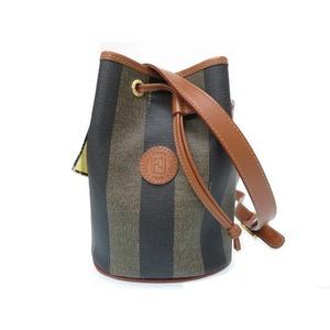 Fendi Pecan Vintage Drawstring Brown Shoulder Bag 鞄 0104 FENDI Women