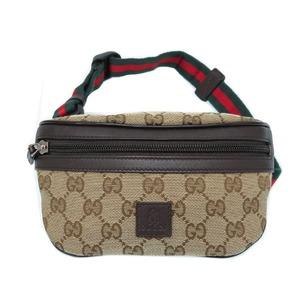 Gucci GG Canvas Bear Shelly 311159 Beige Shoulder Waist Bag 鞄 0112 GUCCI Unisex