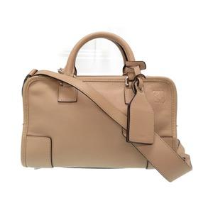 Loewe Amazona 23 2WAY Leather Shoulder Handbag Beige 0071 LOEWE with strap