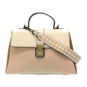 Bottega Veneta medium piazza leather 2WAY shoulder handbag 3 colors tricolor 0084 BOTTEGAVENETA with strap