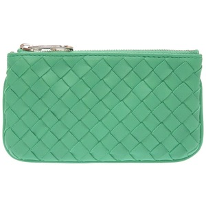 Bottega Veneta Intrecciato Leather Green Coin Case Keyring Key 0210 BOTTEGAVENETA
