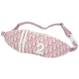 Dior Trotter Waist Pouch Bag Nylon Pink 0169 Christian Dior