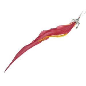 Prada Feather Rhinestone One Ear Piercing 1AJN 76 925 Silver Red Accessory 0059 PRADA Women